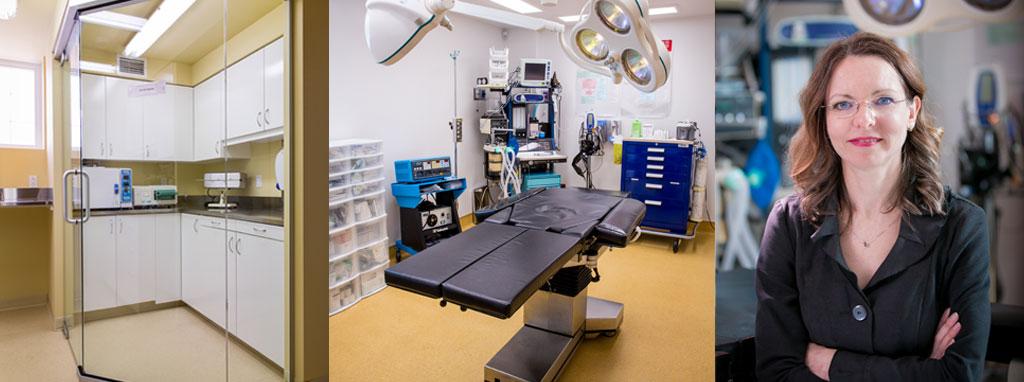 salle d'opération et portrait de dre lucie duclos
